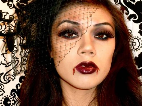maquiagem de vampira morena