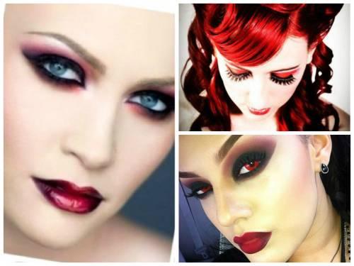 imagens de maquiagem de vampira para festa