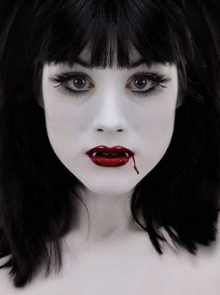 maquiagem infantil de vampira