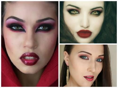 imagens de maquiagem de vampira para halloween