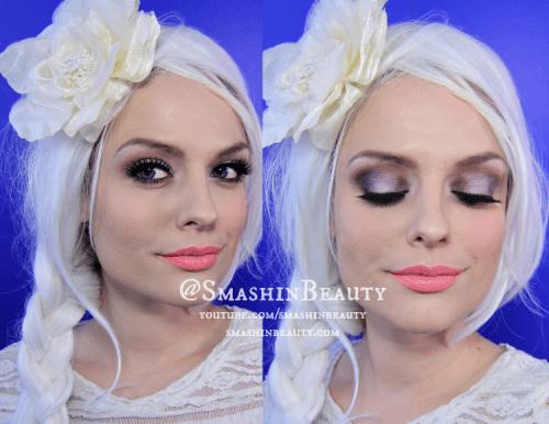 Maquiagem da Frozen para festa a noite passo a passo