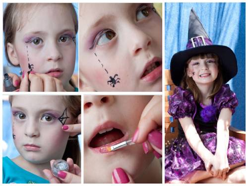 Maquiagem De Bruxinha criança passo a passo