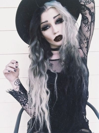 foto maquiagem de bruxa de luxo chique