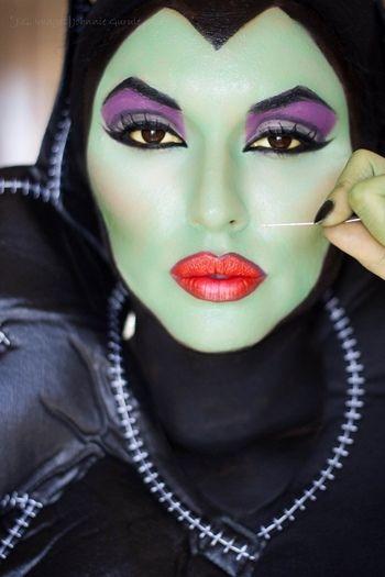maquiagem de bruxa para halloween feminina