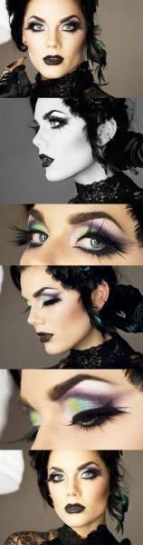 maquiagem de dias das bruxas sexy