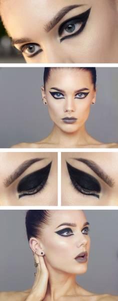 maquiagem leve de bruxa linda