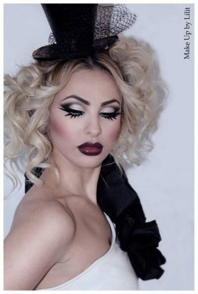 maquiagem de bruxa fashion