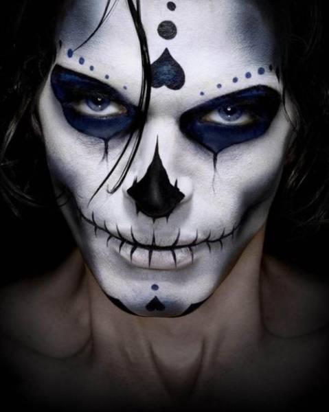 maquiagem de caveira para homens