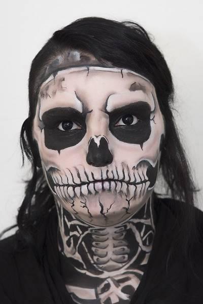 tipos de maquiagem de dia das bruxas