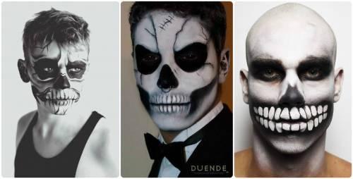 maquiagens de caveira homem real