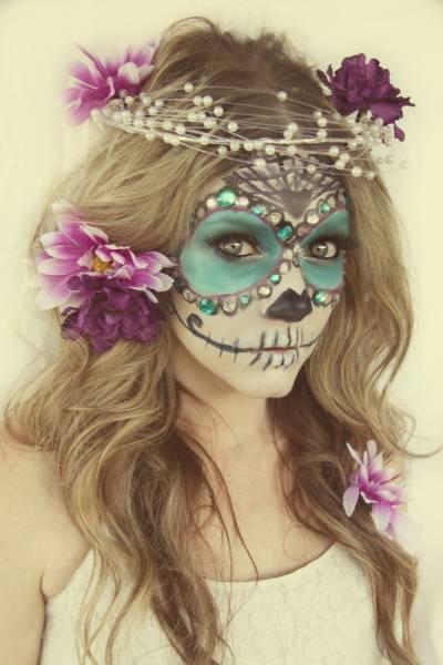 maquiagem de caveira mexicana feminina