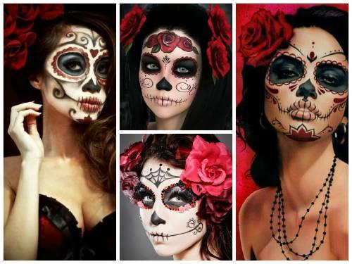 fotos de maquiagem de caveira mexicana