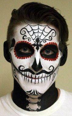 maquiagem caveira mexicana masculina