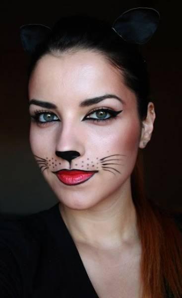 ideia para make de gatinha