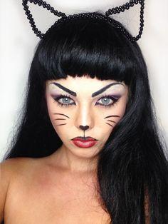 maquiagem felina de fantasia