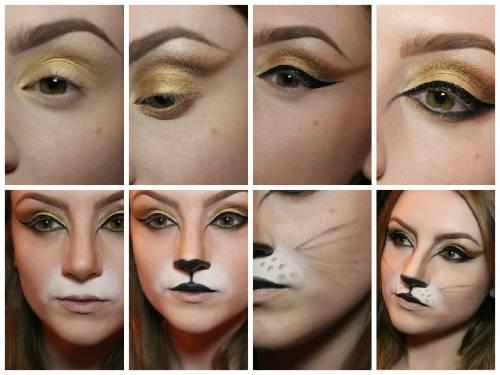 maquiagem gata para Halloween