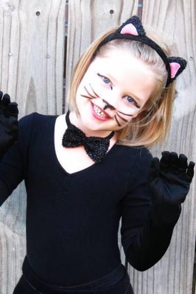 foto de maquiagem de criança gatinha