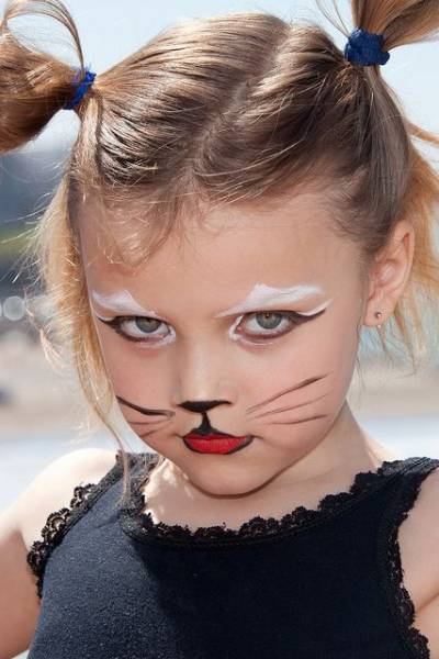 fantasia para crianças - maquiagem