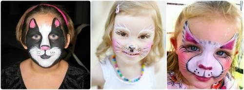 opções de make para dia das bruxas infantil