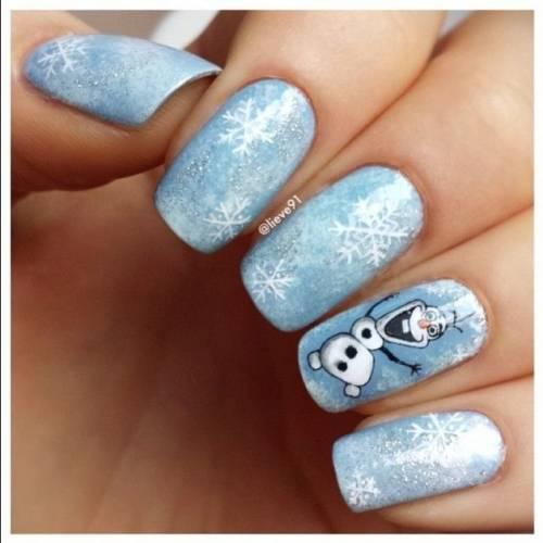 unhas frozen decoradas 2