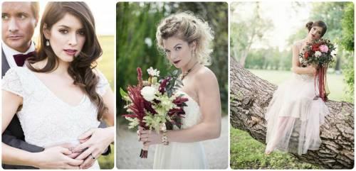 noiva com  batom marsala