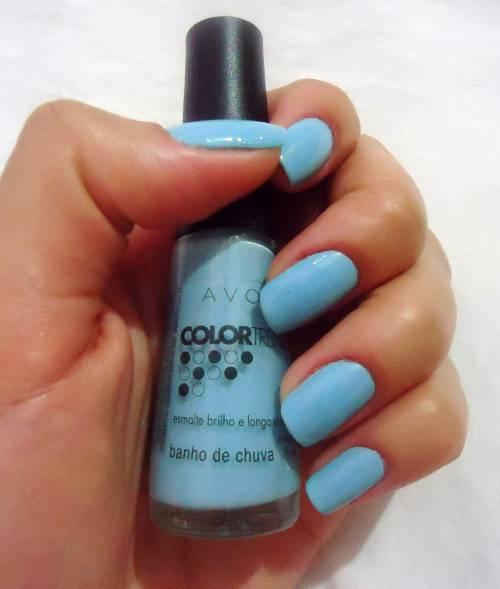 esmalte azul avon