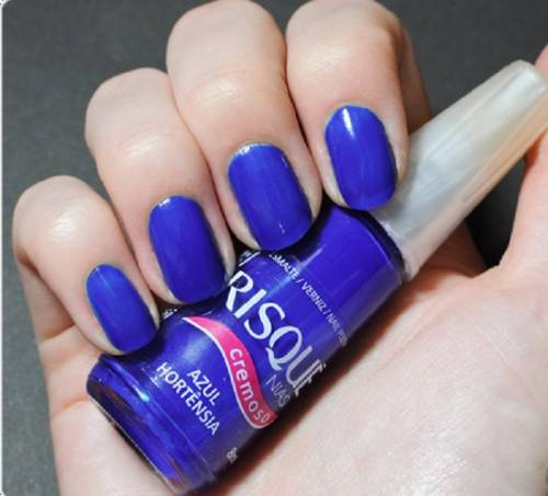 esmalte azul risque