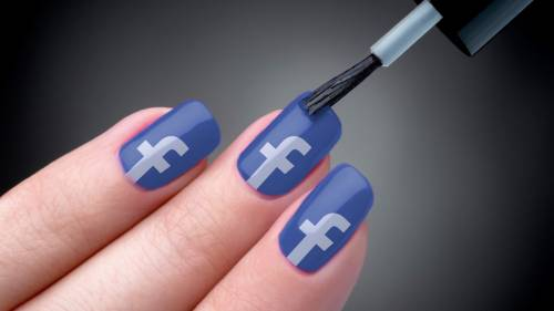 unha decorada azul facebook
