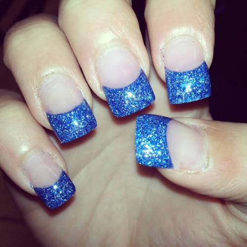 White And Silver For Prom Nail Ideas: AZUL: 50 Dicas E Fotos Lindas
