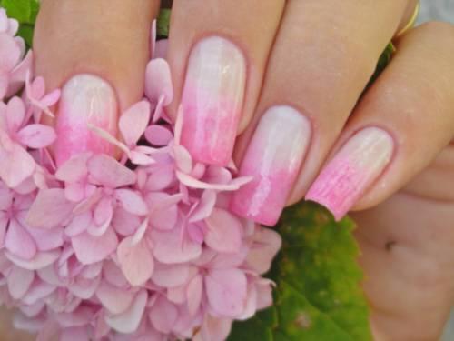 unha decorada madrinha ombre rosa