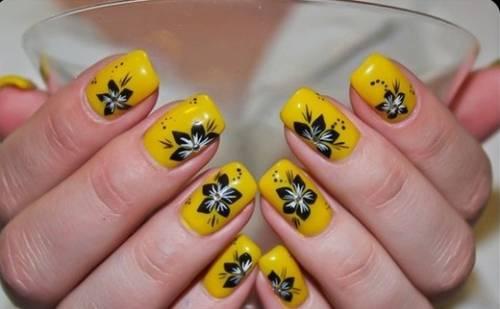unhas decoradas com flores modelos