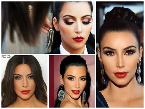 maquiagem kim kardashian batom