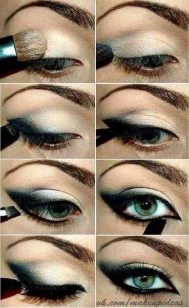 maquiagem esfumada preta