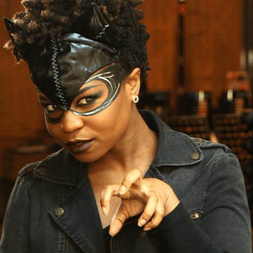 maquiagem mulher gato pele negra