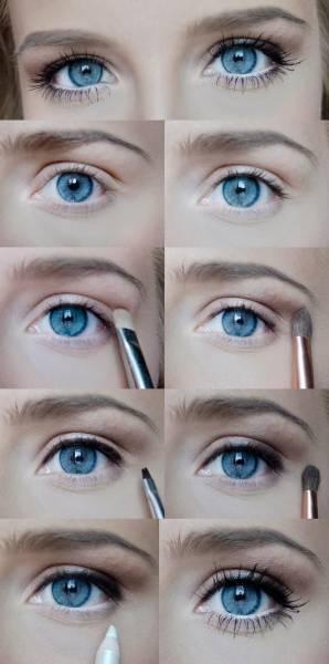 maquiagem olho para escola