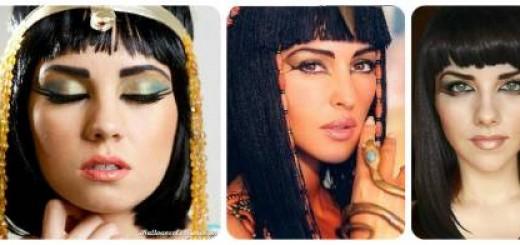 Maquiagem simples egípcia