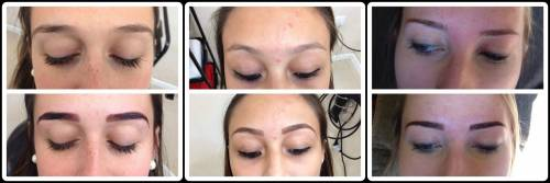Antes e depois preenchimento sobrancelhas temporário