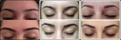 Antes e depois de fazer sobrancelha henna