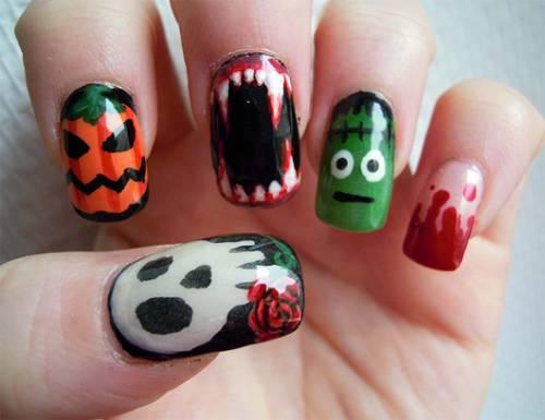 unha-decorada-dicas-halloween-monstros