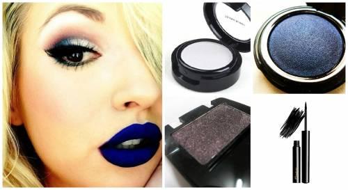 maquiagem para batom azul
