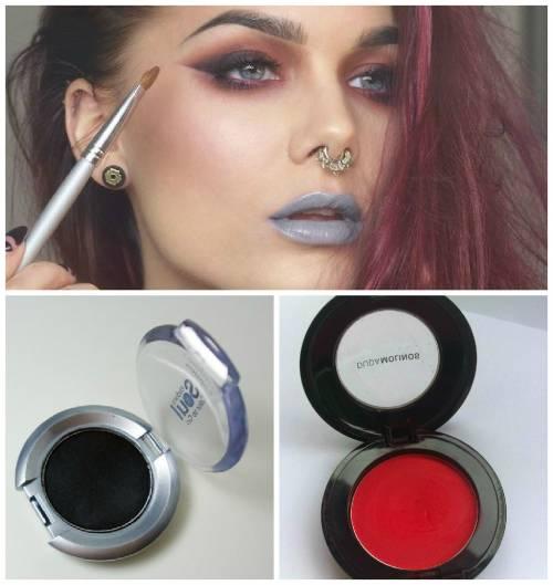 maquiagem sombra vermelha