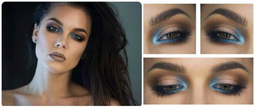 maquiagem com sombra azul